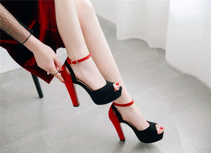 Women Sandals Mixed Fashion Shoes Elegant Peep Toe Sexy High Heels