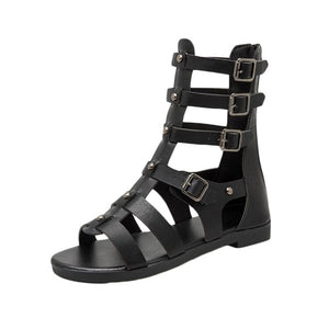 Fashion Metal Zipper Peep Toe Style Sandals Party Casual Shoes
