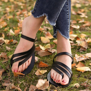 Open Toe Breathable Beach Sandals Rome Casual Slip-On Flat Shoes