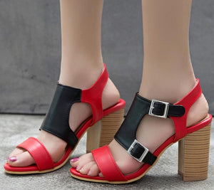 Womens Sandals Chunky High Heels Pumps Classic Shoes