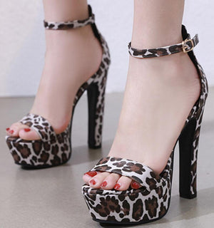 Leopard High Heels Shoes Party