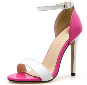 woman bride wedding shoes girls patent leather ladies thin high heels