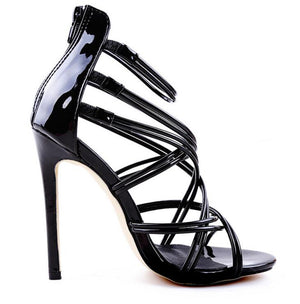 Cross-tied Gladiator Sandals  Women Pumps Shoes Thin High Heels