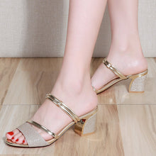 Sexy Ladies High Heels Woman Square Heels Sandals