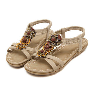 Flat Heel Bohemia  Women's Sandals Sweet Ladies Brand Shoes