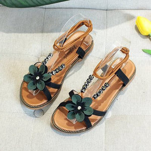 Women's Summer Footwear Flip-flop Casual Sandals Flat Heel Beach Shoes