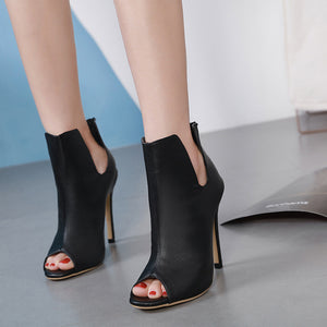 the new fish mouth female sandals Fashion high heels
