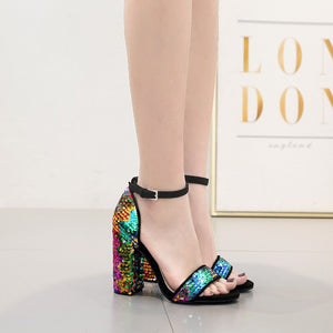 The New Color Female Sandals In The Summer Fashion High Heels