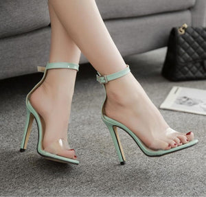 Female One Word Cingulate Fine With High Heels Peep-Toe Euramerican Sandals