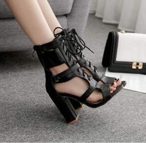 Summer Women's Sandals High Heels Rome cold boots.