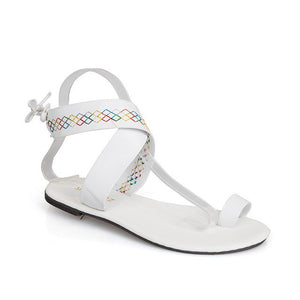 Non-slip Shoes Rome Strappy Gladiator Low Heel Woman Outdoor Beach Slippers Sandals