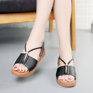 peep-toe  flat Shoes Roman sandals woman Ladies Flip Flops Footwear