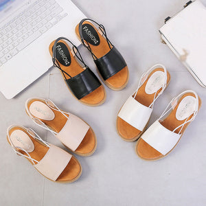 Vintage Women Sandals Bohemia Flats Open Toe Gladiator Shoes
