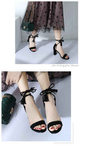 Gladiator Lace Up High Heels Cross Strap Sandal Summer Party Shoes
