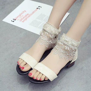 Summer Concise Solid Zipper Flat Sandals for Dress Casual Front Rear Strap