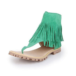 Fashion Summer  Flat Tassels Women Cool Shoes Girls Students Casual Sandals