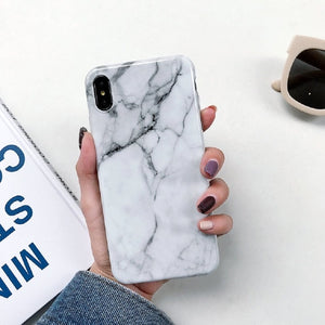 White Marble iPhone Cases