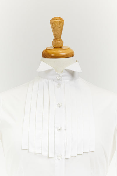 Wing-collar Shirt with Pleated Tuxedo Front