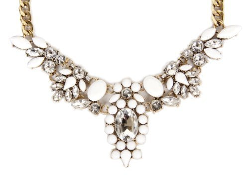 Great Gatsby 1920 Vintage Diamond Eagle Statement Necklace