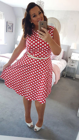 Fabulous 50's Retro Hepburn Swing  Dress