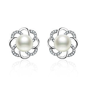 Twist Flower Sterling Silver Earrings Set