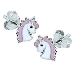 Snazzy Pink Unicorn Earrings