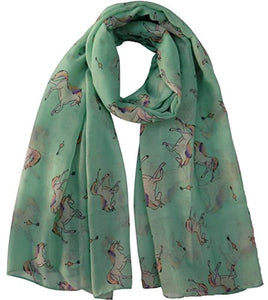 Lina & Lily Unicorn Animal Print Scarf