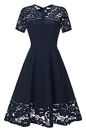 Vintage Short sleeve Tea Dress
