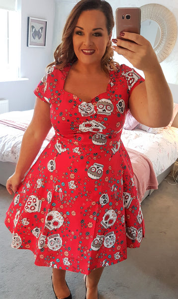 50's Style Rockabilly Skull Swing Dress