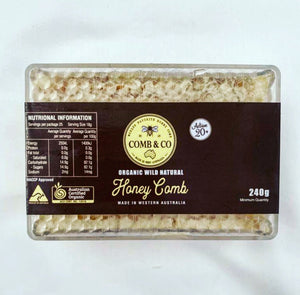 Organic Raw Honeycomb 240g