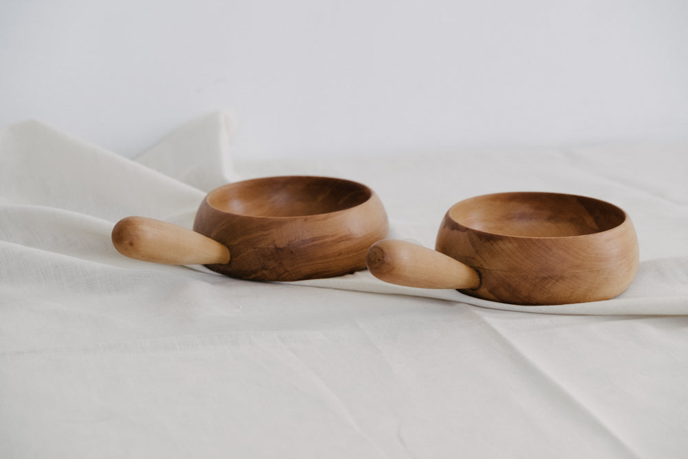 Set of Two Yellowwood Bowls