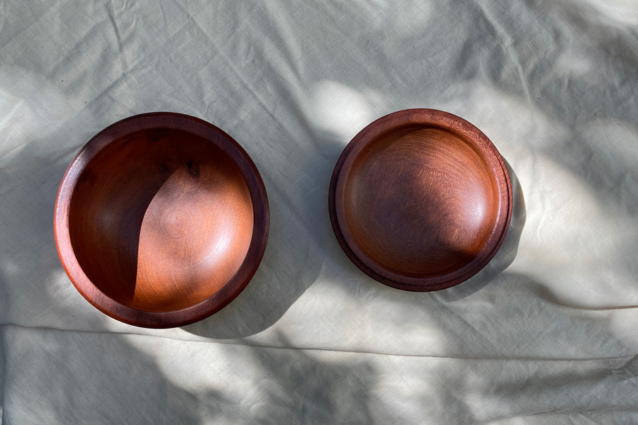 Wooden Bowl with Lid