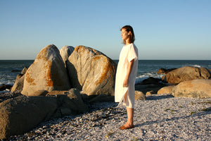 Boat Neck Tunic in Cream
