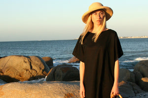 Boat Neck Tunic in Black