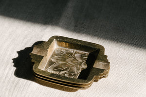 Square Brass Ashtray
