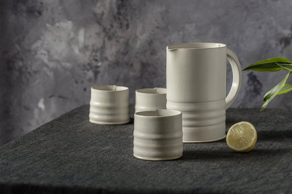 Ardant white Pitcher Set