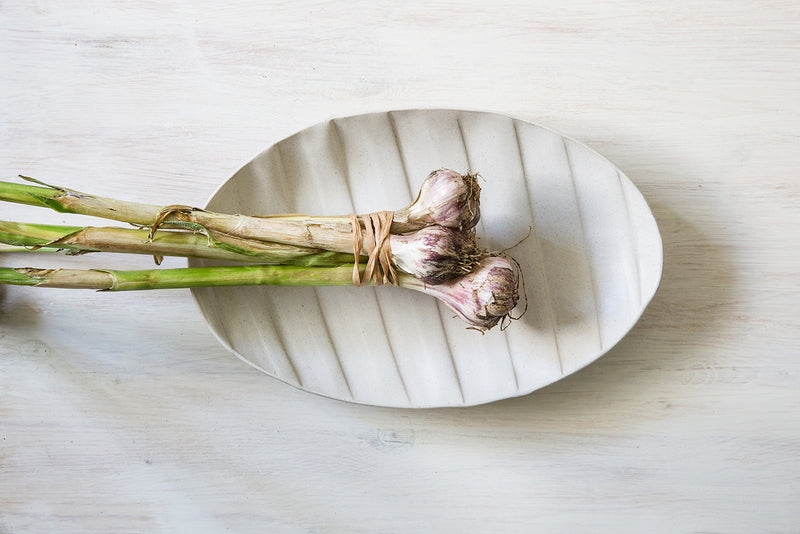 Large white oval tray