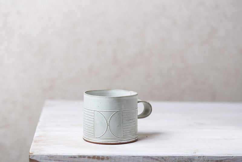 Adele Abstract White Mug