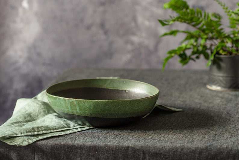 Astrid Black & Green  bowl