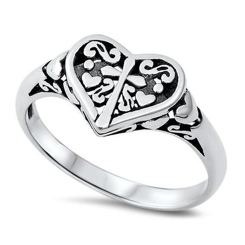 Cross to My Heart Ring 925 Sterling Silver