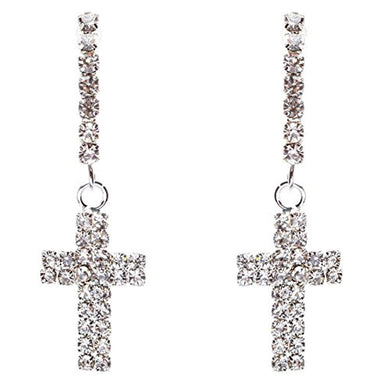 Sparkle Crystal  Cross Dangle Earring