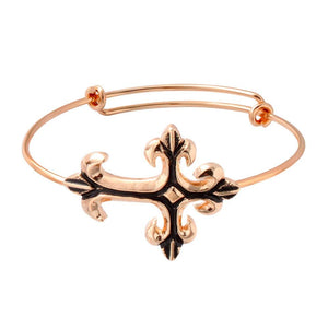 Expandable Wire Cross Bracelet