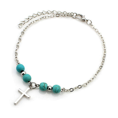 Cross Beads Anklet Bracelet - Be Living