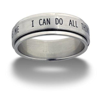I Can Do All Bible Verse Spinner Ring - Be Living
