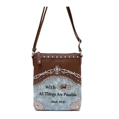 Mark 10:27 Messenger Bag - Be Living