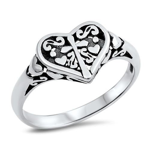 Cross to My Heart Ring 925 Sterling Silver - Be Living