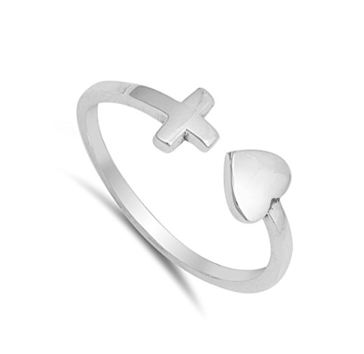 Love The Cross Ring 925 Sterling Silver - Be Living