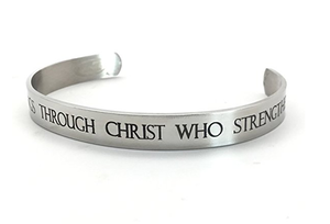 Philippians 4:13 Cuff Bracelet - Be Living