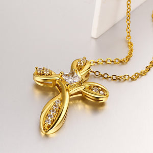 Crystal Cross Necklace - Be Living