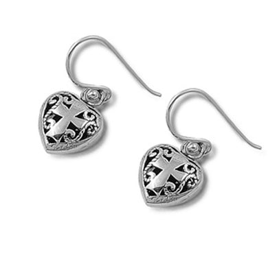 Heart Of Faith Earrings 925 Sterling Silver